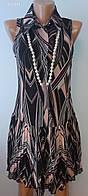 Жіноча Сукня чорно-рожева шифонова S (42-44) «Rinascimento» (Італія)