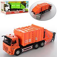 Машинка инерционная мусоровоз 9623B: размер 25см (свет + звук)