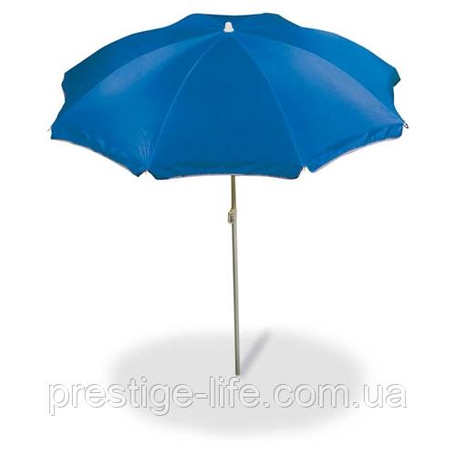 Зонт диаметром 2 м серебренное покрытие с уклоном. Цвет: Синий