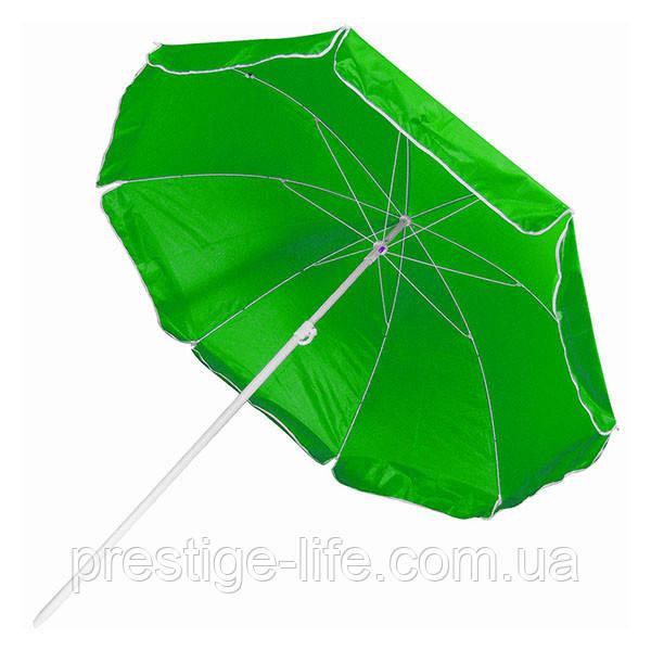 Зонт диаметром 2 м серебренное покрытие с уклоном. Цвет: Зелёный