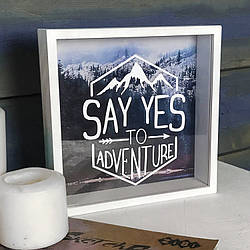 Деревянная копилка для денег Say yes to adventure (123835)