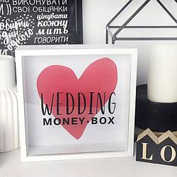 Деревянная копилка для денег Wedding money-box (123837)