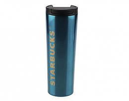 Термокружка глянцевая тамблер Starbucks 473мл., Blue (123841)