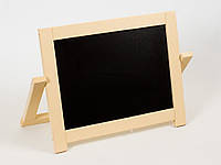 Детский маленький деревянный двухсторонний мольберт с магнитной доской 40х4х30 см