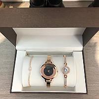 Женский подарочный набор Gucci Bracelet/Watch/Bracelet with Diamond Gold