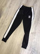 Мужские Спортивные штаны черные с белым лампасом OFF WHITE New, фото 3