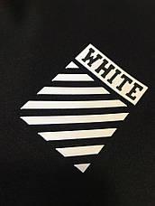 Мужские Спортивные штаны черные с белым лампасом OFF WHITE New, фото 2