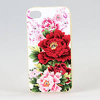 Чехол из высококачественного силикона для Iphone 4/4S Rose