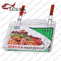 """Решетка для гриля и барбекю с двумя ручками Кемпинг """"Мега"""" S-103"""