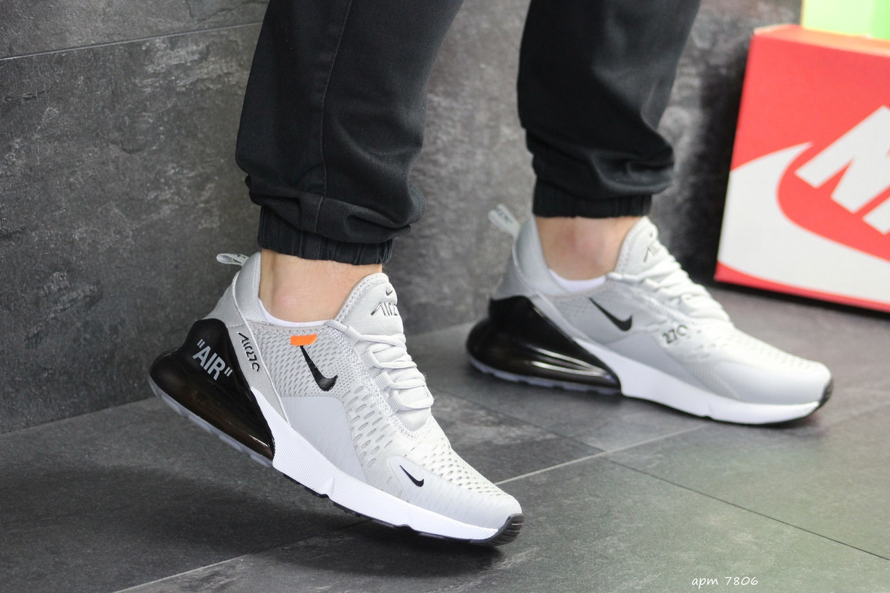Мужские кроссовки Nike Air Max 270 (светло-серые)