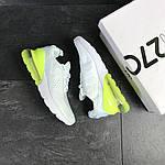 Мужские кроссовки Nike Air Max 270 (белые с желто-салатовым), фото 2