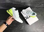 Мужские кроссовки Nike Air Max 270 (белые с желто-салатовым), фото 3