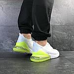 Мужские кроссовки Nike Air Max 270 (белые с желто-салатовым), фото 5