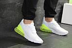 Мужские кроссовки Nike Air Max 270 (белые с желто-салатовым), фото 4
