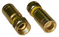 Компрессионный разъём F6Compress (FY037) на коаксиальные кабеля RG-6