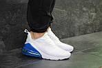 Мужские кроссовки Nike Air Max 270 (белые с синим), фото 2