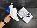 Мужские кроссовки Nike Air Max 270 (белые с синим), фото 3