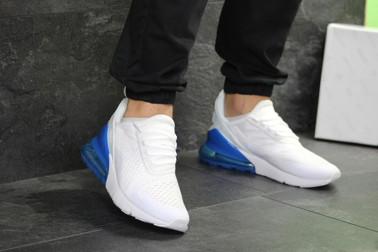 Мужские кроссовки Nike Air Max 270 (белые с синим)