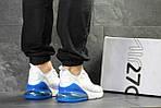 Мужские кроссовки Nike Air Max 270 (белые с синим), фото 4