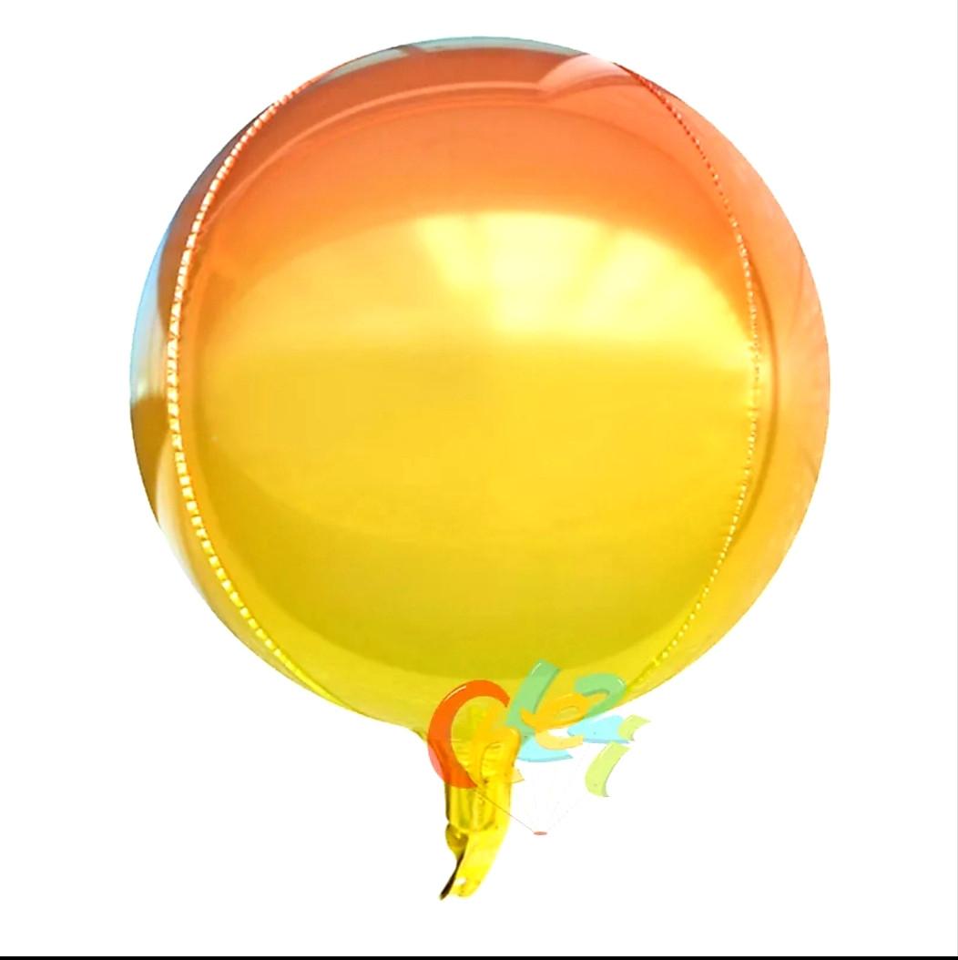 """Куля сфера 4D градієнт жовтий 22""""/55 см"""