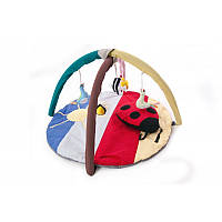 Килимок ігровий з дугами і підвісними іграшками Божа корівка