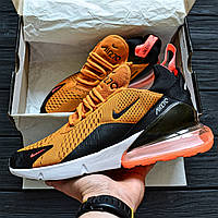 73d781c9 Мужские кроссовки Nike Air Max 270 Tiger Orange University Gold. Живое фото.  Топ реплика