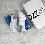 Женские кроссовки Nike Air Max 270 (бело-синие), фото 2