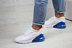Женские кроссовки Nike Air Max 270 (бело-синие), фото 3