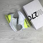 Женские кроссовки Nike Air Max 270 (белые с желто-салатовым), фото 3