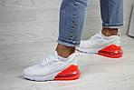 Женские кроссовки Nike Air Max 270 (бело-оранжевые), фото 3