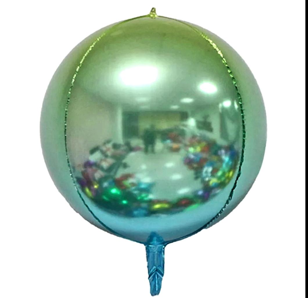"""Куля сфера 4D градієнт синій 22""""/55 см"""
