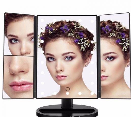 Тройное зеркало для макияжа с LED подсветкой Magic Makeup Mirror