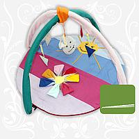 Килимок ігровий Квітка семицвітка з дугами і підвісними іграшками