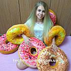 """3D Подушка декоративная Пончик """"Медовый"""". Декоративная 3D подушка-пончик. Подушка игрушка антистресс Пончик, фото 7"""