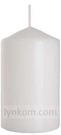 Свеча цилиндр белая оптом 6 х 10 см