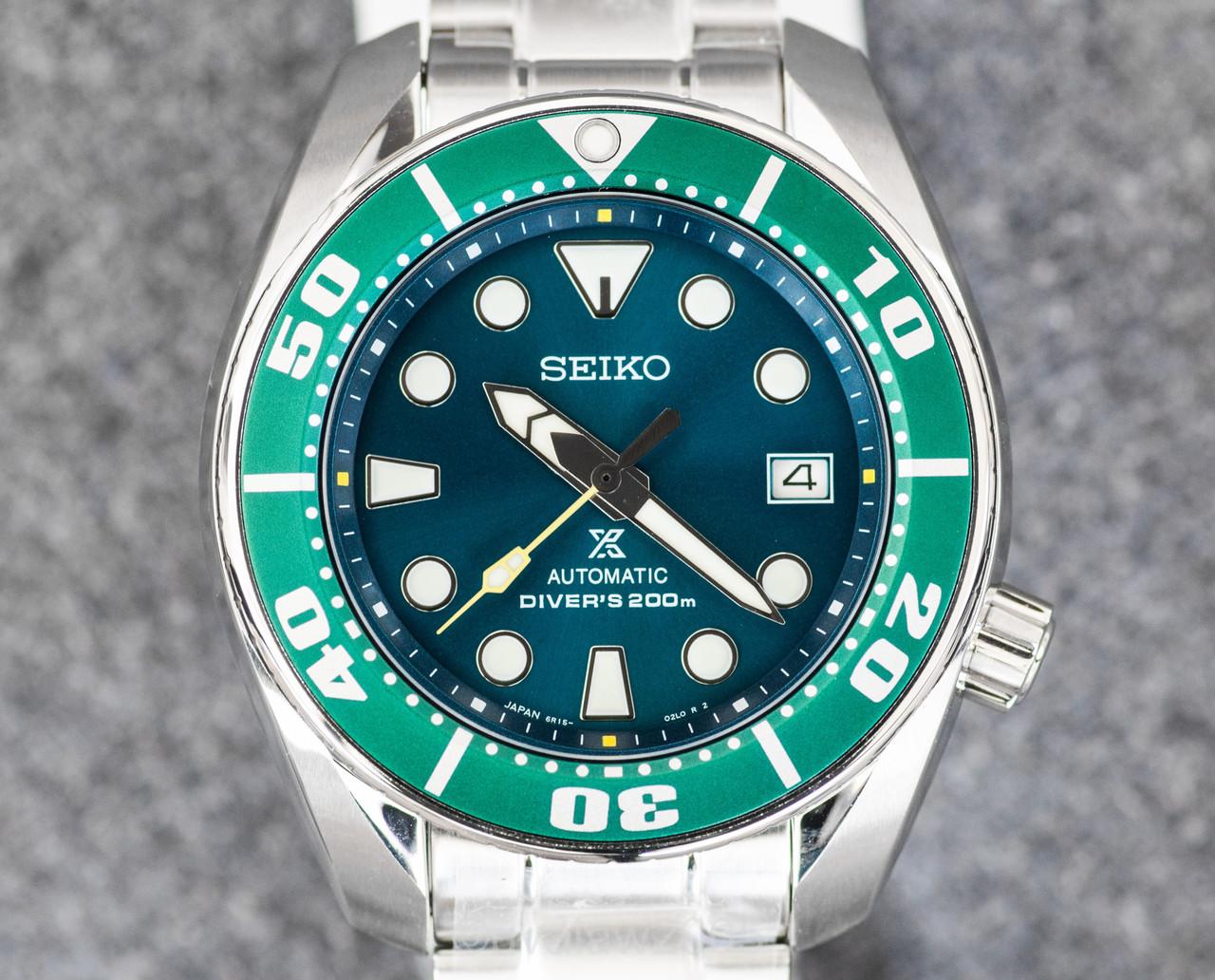 Часы Seiko Prospex SZSC004 Automatic Diver's 6R15 Green Sumo