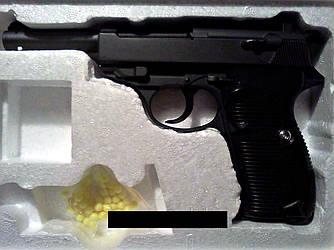 Пистолет G21 детский пневматический металлический на пульках диаметром 6 мм