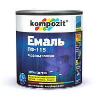 Эмаль Kompozit ПФ-115 светло-серая 12 кг