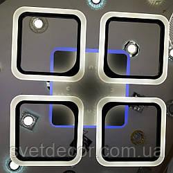 Люстра светодиодная потолочная с пультом 8060/4 Dimmer + синяя LED подсветка