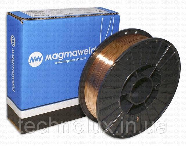 Омедненная, сварочная проволока Св08г2с, MAGMAWELD ф1,0 15кг