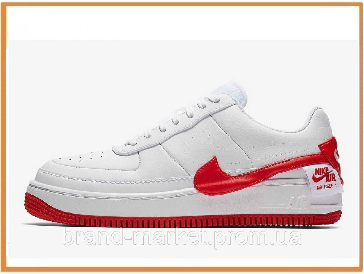 d122ded8 Женские кроссовки Nike Air Force 1 Jester XX White University Red (найк аир  форс 1
