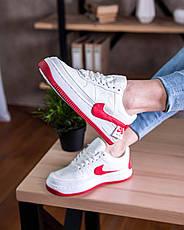 211ac4c0 Женские кроссовки Nike Air Force 1 Jester XX White University Red (найк аир  форс 1 низкие, белые / красные)