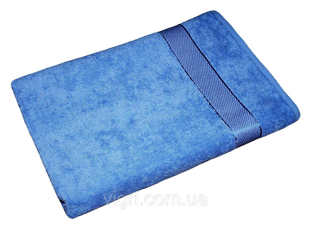 Полотенце махровое Азербайджан, 70х140 см., голубое