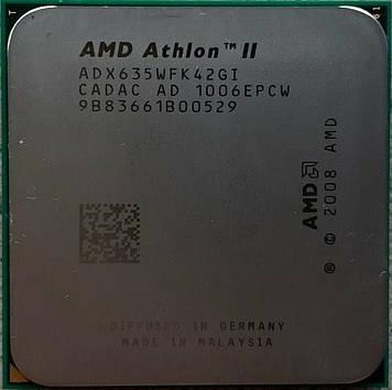Процессор AMD Athlon II X4 635 2.8GHz/2M/2000 (ADX635WFK42GI) sAM3, tray