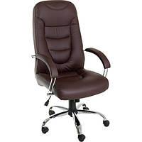 Кресло Новий Стиль Boston Steel Chrome Eco-31 темно-коричневое