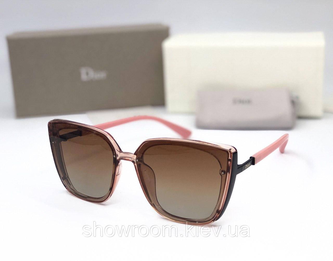 Женские брендовые солнцезащитные очки (8904) rose