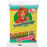 Губка для мытья посуды Гривна Петровна 3 шт