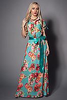Праздничное вечернее платье из шелка модного кроя