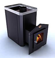 Дровяная печь для бани Новаслав Классик ПКС-01Ч с термостойким стеклом
