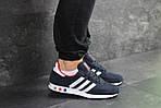 Чоловічі кросівки Adidas La Trainer (темно-сині з білим), фото 2